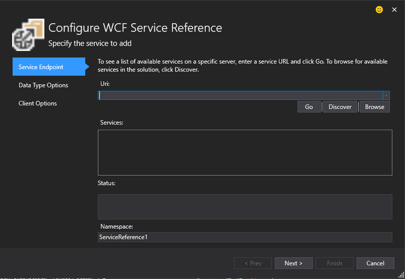 Adding WCF Service to ASP Net Core application (VS 2015 and VS 2017
