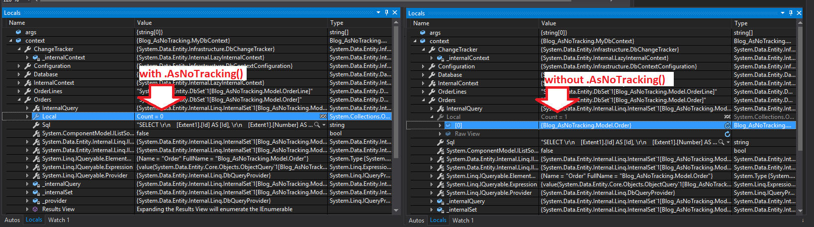 Entity Framework  AsNoTracking() – why & how (EF and EF Core
